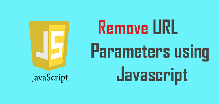 How to remove parameters in URL using JavaScript