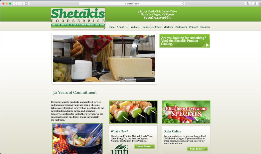 Shetakis Food Service
